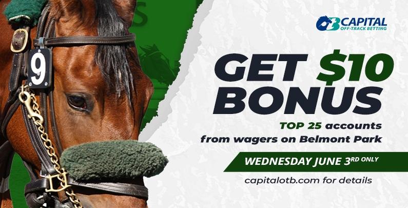 $10 Bonus on Belmont Park