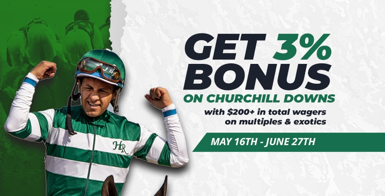 3% Bonus on Churchill Downs